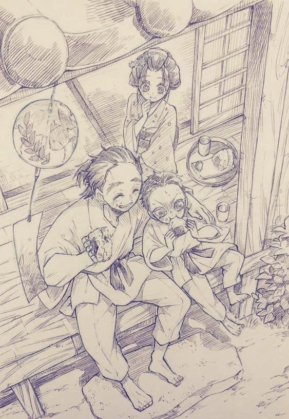 Thảnh thơi khi ngắm những khoảnh khắc bình yên hiếm hoi của các nhân vật trong Kimetsu no Yaiba - Ảnh 19.
