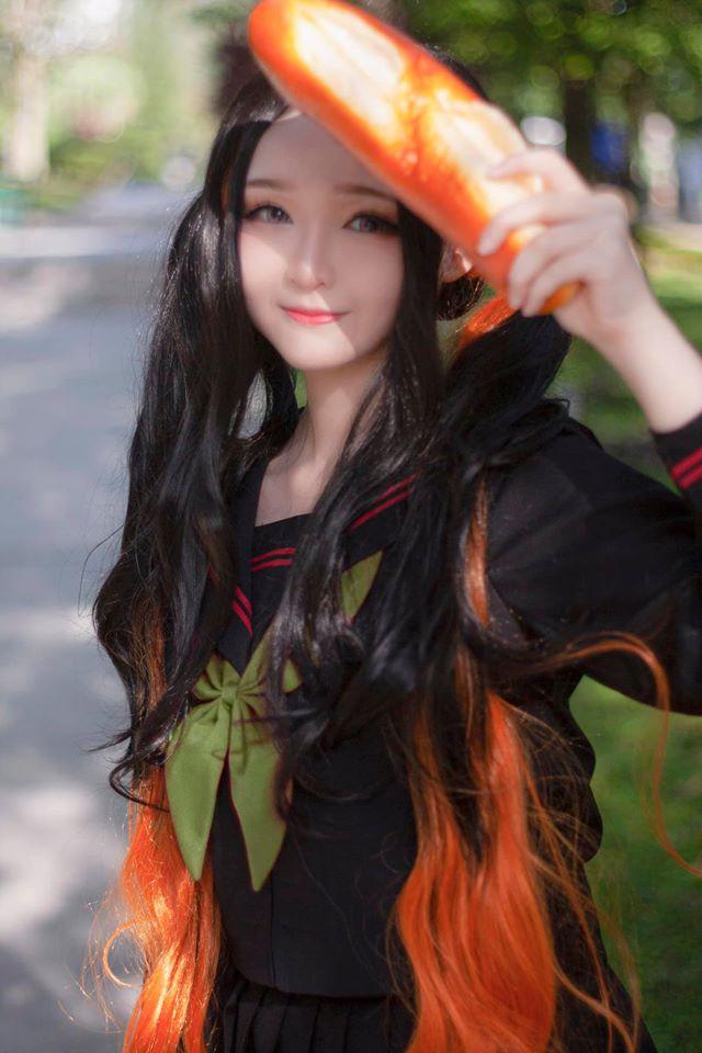 Kimetsu no Yaiba: Em gái quốc dân Nezuko hóa nữ sinh trung học đẹp dịu dàng mà không chói lóa - Ảnh 3.