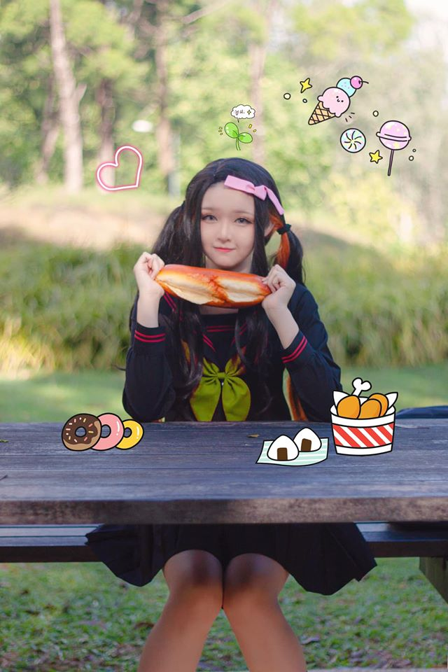 Kimetsu no Yaiba: Em gái quốc dân Nezuko hóa nữ sinh trung học đẹp dịu dàng mà không chói lóa - Ảnh 5.
