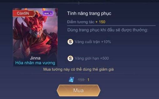 Liên Quân Mobile: Game thủ mua Jinna Ma Vương với giá 1 QH, Garena đòi 20 nghìn cũng khó - Ảnh 4.