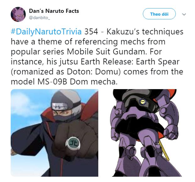 Naruto: Một thành viên của tổ chức khủng bố Akatsuki có mối liên hệ mật thiết với người máy Gundam - Ảnh 3.