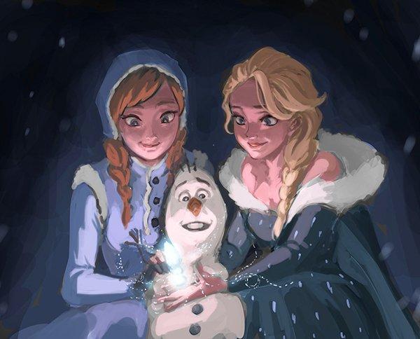 Chị em Nữ hoàng băng giá Elsa trong Frozen lột xác từ diện mạo tới tính cách qua nét vẽ của fan - Ảnh 4.