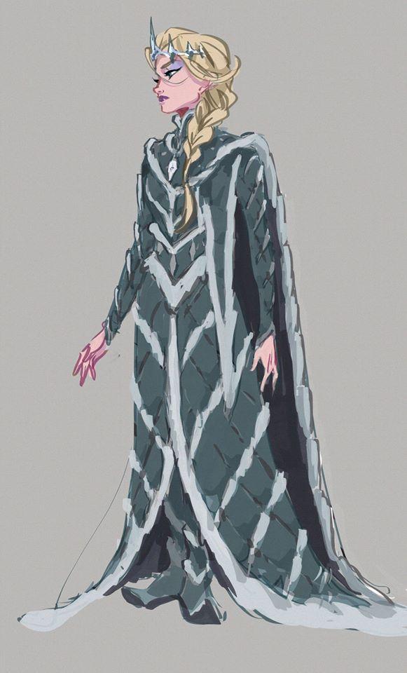 Chị em Nữ hoàng băng giá Elsa trong Frozen lột xác từ diện mạo tới tính cách qua nét vẽ của fan - Ảnh 14.
