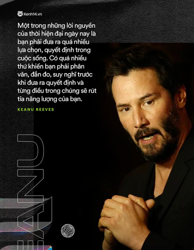 """Quan niệm sống về tiền bạc của Keanu Reeves: Tôi đã kiếm được rất nhiều tiền, tôi cho đi rất nhiều và sống đơn giản. Ta đều biết rằng sức khỏe tốt mới là điều quan trọng hơn."""" - Ảnh 4."""