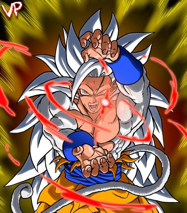 Goku trông thật ngầu khi ở trạng thái Super Saiyan 5 qua ảnh của fan.