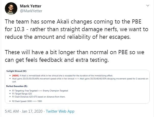 Riot Games sắp loại bỏ khả năng lướt chủ động của Akali từ chiêu cuối Sát Chiêu Hoàn Hảo - Ảnh 1.