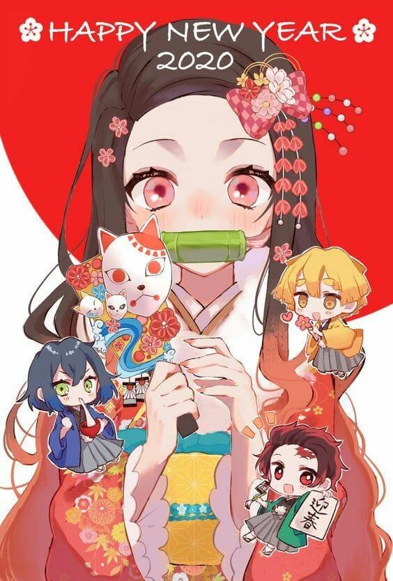 Dàn nhân vật Kimetsu no Yaiba rủ nhau diện kimono Nhật Bản tưng bừng đón năm mới - Ảnh 6.