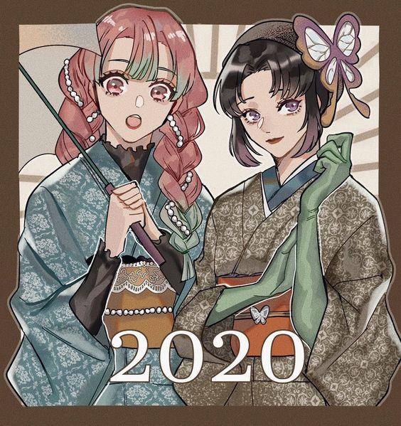 Dàn nhân vật Kimetsu no Yaiba rủ nhau diện kimono Nhật Bản tưng bừng đón năm mới - Ảnh 9.