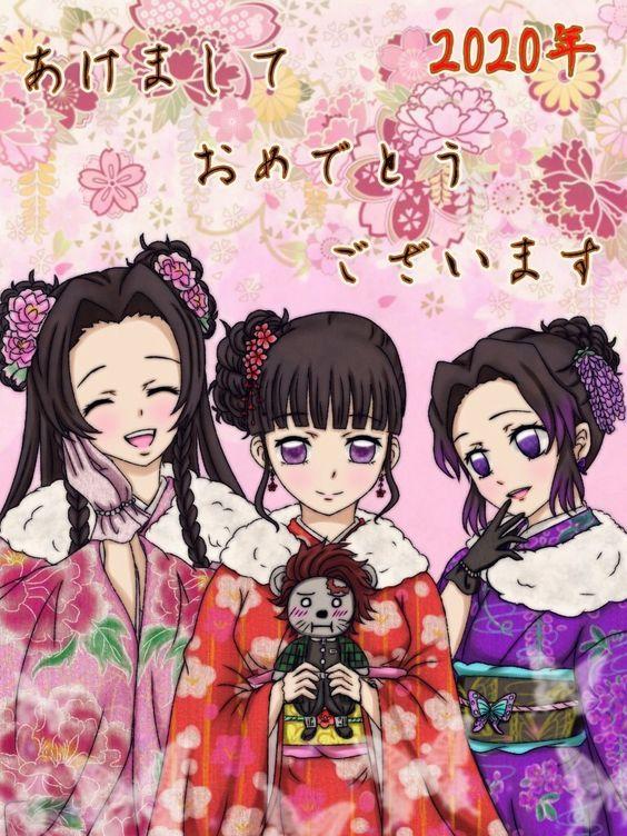 Dàn nhân vật Kimetsu no Yaiba rủ nhau diện kimono Nhật Bản tưng bừng đón năm mới - Ảnh 12.