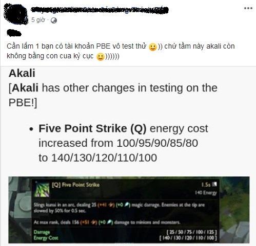 Akali tiếp tục bị nerf thảm, game thủ ngao ngán nhận xét - Giờ nó còn yếu hơn cả Cua Kỳ Cục - Ảnh 4.