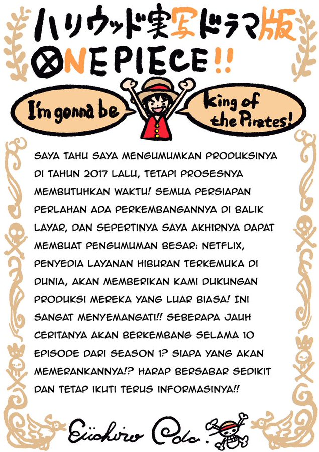 Netflix công bố thông tin về live action One Piece, Eiichiro Oda cũng sẽ tham gia sản xuất - Ảnh 3.
