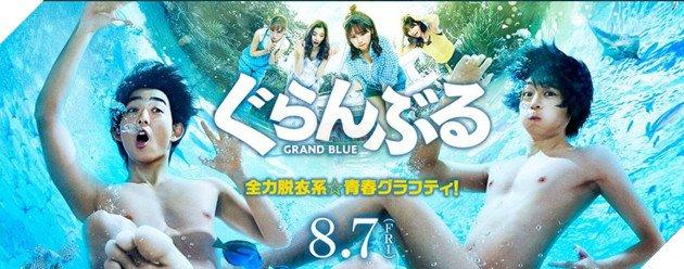 Chết cười khi ngắm loạt ảnh so sánh phiên bản anime với live action của Grand Blue, đến cảnh nude mà cũng không tha - Ảnh 1.