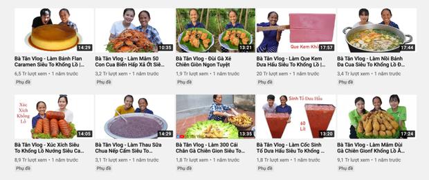 Hậu lùm xùm của con trai, bà Tân Vlog tụt giảm view liên tục, chỉ còn 1/10 so với thời đỉnh cao - Ảnh 2.