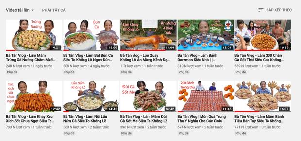 Hậu lùm xùm của con trai, bà Tân Vlog tụt giảm view liên tục, chỉ còn 1/10 so với thời đỉnh cao - Ảnh 3.