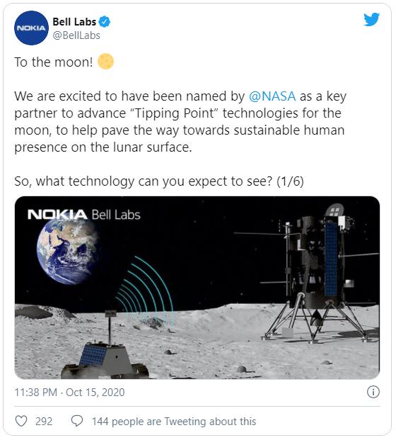 Nokia giành được hợp đồng xây dựng mạng 4G trên... Mặt Trăng - Ảnh 1.