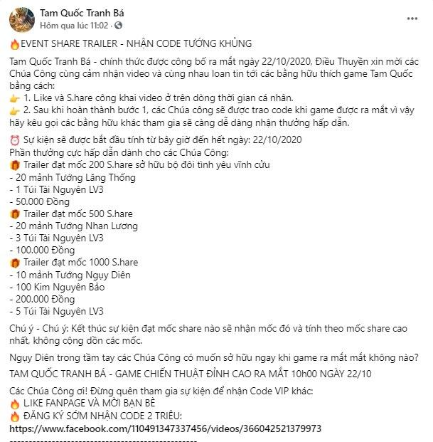 Tam Quốc Tranh Bá Chính Thức Ra Mắt Ngày 22/10 – Tặng Bộ VIP Code cho Game Thủ - Ảnh 5.