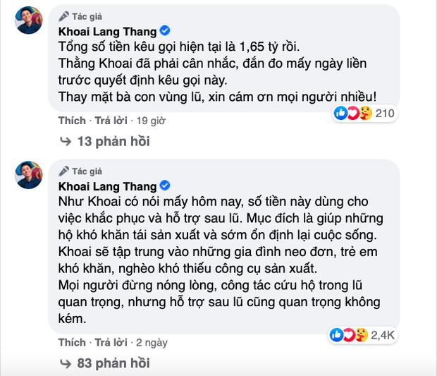 Hướng về miền Trung, Khoai Lang Thang kêu gọi quyên góp được 1,65 tỷ, Sang Vlog dành hẳn nửa tháng lương Youtube để ủng hộ - Ảnh 4.