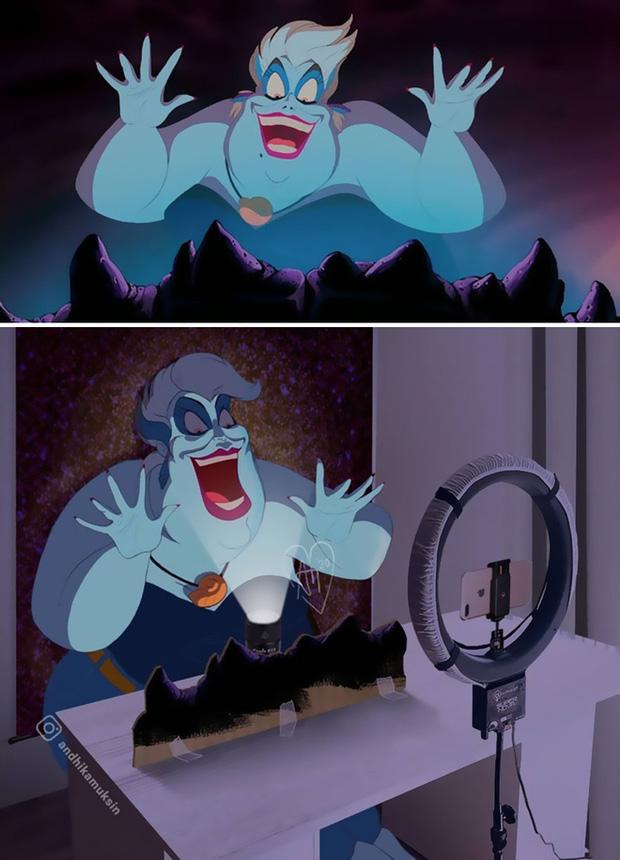 Khi các cảnh quay nổi tiếng của Disney được khán giả chế lại ảnh hậu trường thì trông sẽ như thế nào? - Ảnh 3.