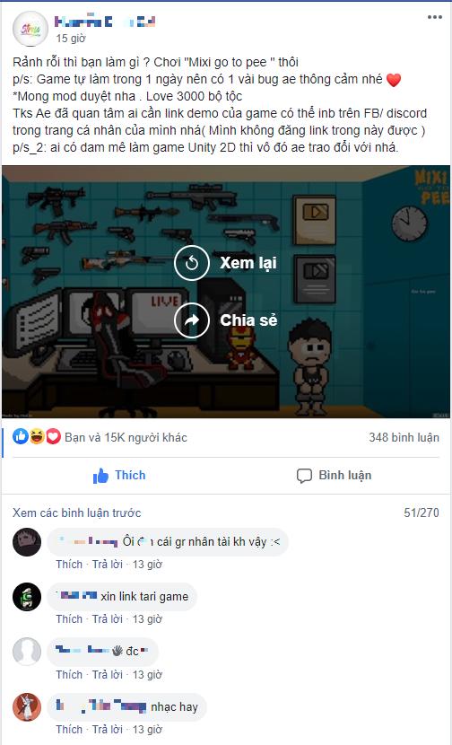 Chỉ trong vòng 24 giờ, fan đã làm hẳn tựa game về Tộc trưởng của mình với nhân vật chính là Độ Mixi - Ảnh 2.