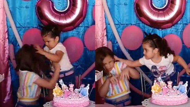 Choảng nhau vì tranh thổi nến sinh nhật, 2 chị em được mời lên TV thổi 500 cây hàn gắn tình cảm nhưng vẫn thất bại - Ảnh 2.