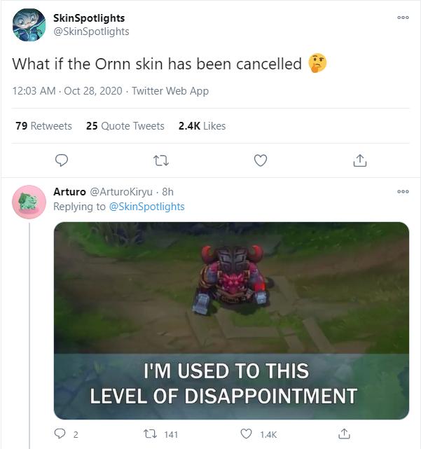 Riot khiến cộng đồng thất vọng dù update loạt skin mới - Có khi họ hủy trang phục Ornn Thần Rừng rồi - Ảnh 3.