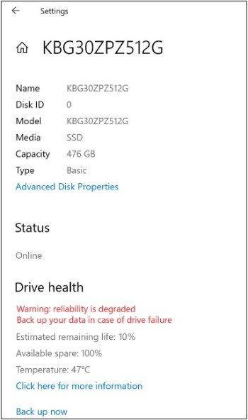 Windows 10 sắp có tính năng cảnh báo ổ cứng sắp hỏng - Ảnh 3.