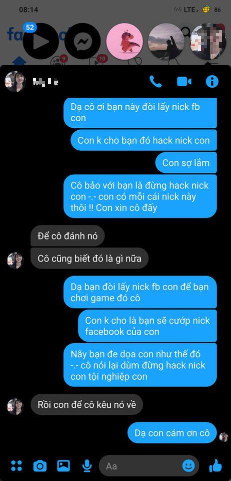 """Bị game thủ nhí """"FF"""" tên Yasuo dọa hack Facebook, chàng trai mách luôn mẹ của hacker và cái kết không ngậm được mồm - Ảnh 7."""