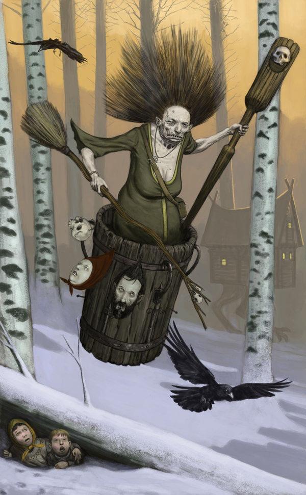 Baba Yaga – Truyền thuyết về phù thủy ăn thịt trẻ con của người Nga - Ảnh 3.