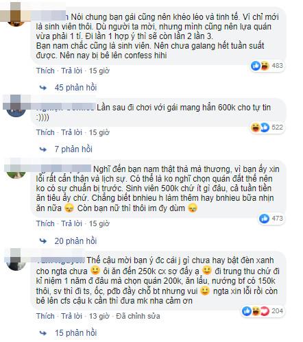 Gái xinh Hà Nội lên mạng bóc mẽ bạn trai mới quen chỉ vì rủ đi ăn mà mang có 500k: Sinh viên thời nay sang chảnh vậy à? - Ảnh 6.
