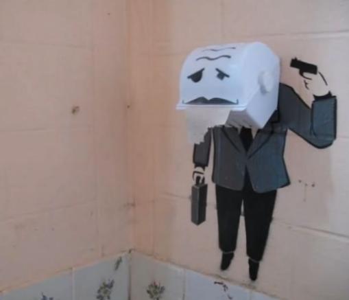 Loạt tác phẩm nghệ thuật cực ngẫu hứng trong nhà vệ sinh khiến dân mạng cười phá lên - Ảnh 11.