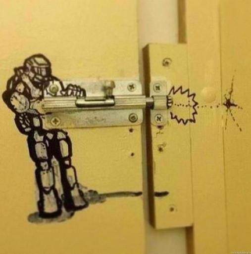 Loạt tác phẩm nghệ thuật cực ngẫu hứng trong nhà vệ sinh khiến dân mạng cười phá lên - Ảnh 6.