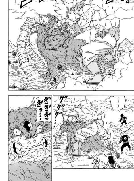 Dragon Ball Super chap 66: Goku bất ngờ hóa khổng lồ, đè bẹp Moro và quyết tâm tiêu diệt ác nhân - Ảnh 3.