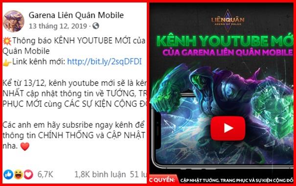 Nóng: Kênh Youtube Garena Liên Quân Mobile hàng triệu sub bất ngờ dừng hoạt động - Ảnh 1.
