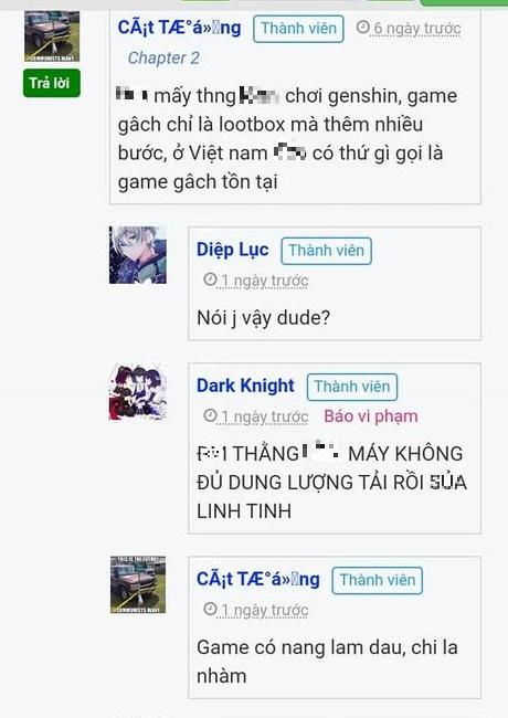 Genshin Impact bị một người chơi cho là hút máu, sử dụng ngôn từ xúc phạm cộng đồng của tựa game này - Ảnh 3.