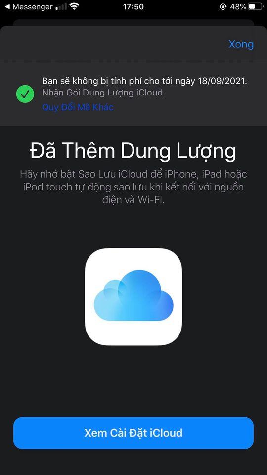 Hướng dẫn nhận miễn phí 50GB dung lượng iCloud trong 9 tháng chỉ với vài click cực dễ - Ảnh 2.
