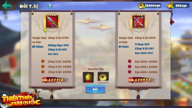 Fan chiến thuật chấm điểm 10 cho Thiên Thiên Tam Quốc: Tướng đổi ngang đồ, tha hồ xoay team, bảo toàn 100% tài nguyên! - Ảnh 5.