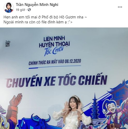 MC Minh Nghi tỏa sáng với sự kiện Chuyến Xe Tốc Chiến tại Hà Nội, danh tính file đính kèm xịn sò hết cỡ - Ảnh 1.