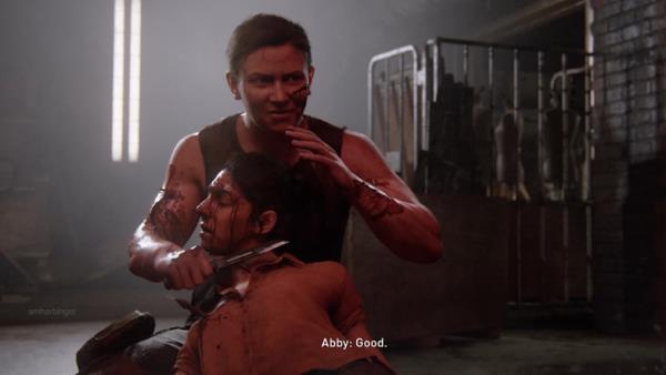 Trong khi việc Ellie giết Mel là tự vệ, Abby thể hiện rõ sự khát máu trong việc muốn giết Dina.
