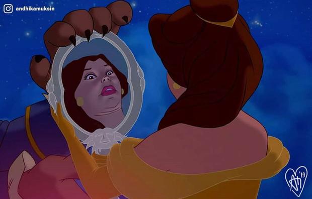 Một cơn mưa đi qua để lại dàn công chúa Disney trôi sạch bách lớp trang điểm, cười muốn nội thương với mặt mộc của Lọ Lem! - Ảnh 5.