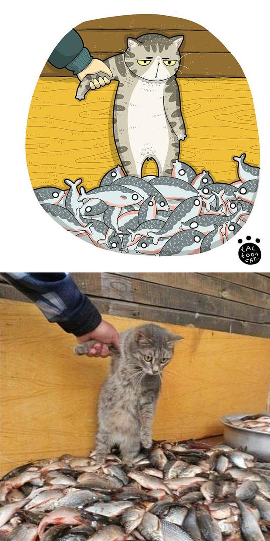 Khi những chú mèo meme được họa lại theo phong cách hoạt hình siêu cute, đốn tim từ ảnh đầu luôn - Ảnh 21.