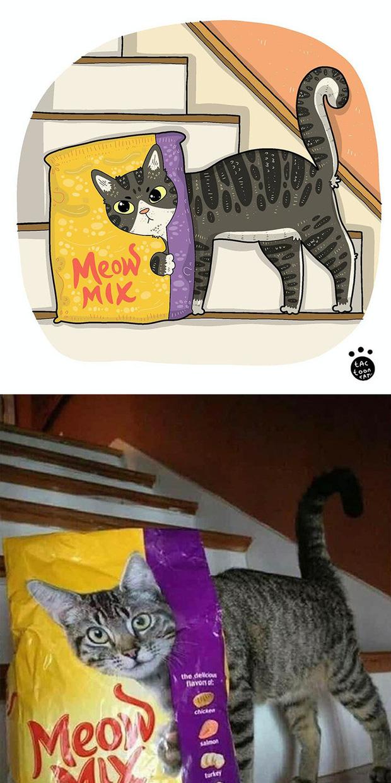 Khi những chú mèo meme được họa lại theo phong cách hoạt hình siêu cute, đốn tim từ ảnh đầu luôn - Ảnh 7.