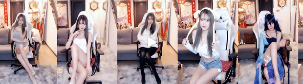Để không bị ban kênh, nữ streamer nghĩ được cách ăn mặc mát mẻ chiều fan mà vẫn an toàn lên sóng - Ảnh 4.