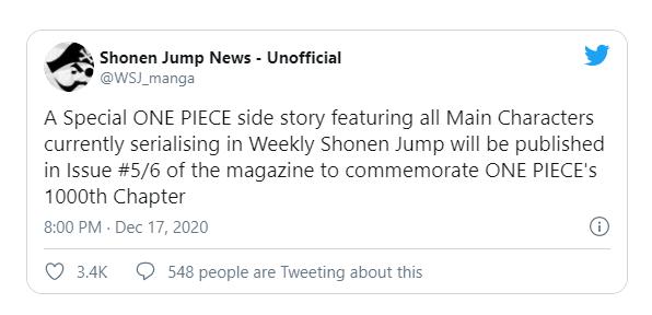 Shonen Jump sẽ làm một điều đặc biệt cho One Piece nhằm đón chào chương 1000 - Ảnh 2.