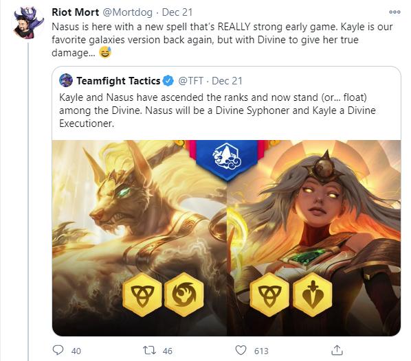 Kayle được Riot Mortdog xác nhận rằng cô nàng sẽ có chất tướng tương tự với mùa 3