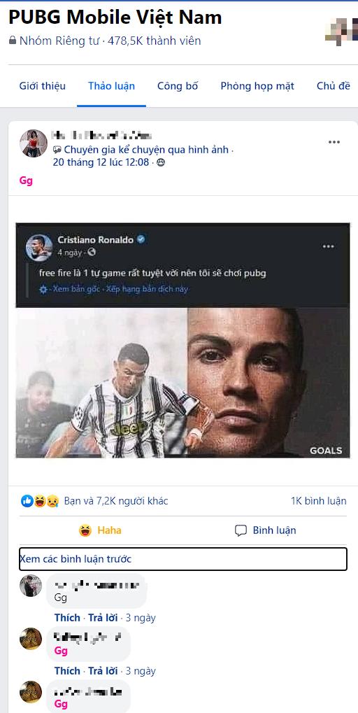 Ronaldo nói một câu về Free Fire khiến cộng đồng PUBG Mobile lập tức cà khịa, thể hiện sự khó chịu và ghen tị? - Ảnh 3.