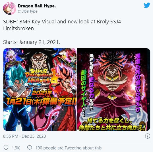 Super Dragon Ball Heroes: Tiết lộ hình ảnh quan trọng mới về Super Saiyan 4 Broly - Ảnh 1.