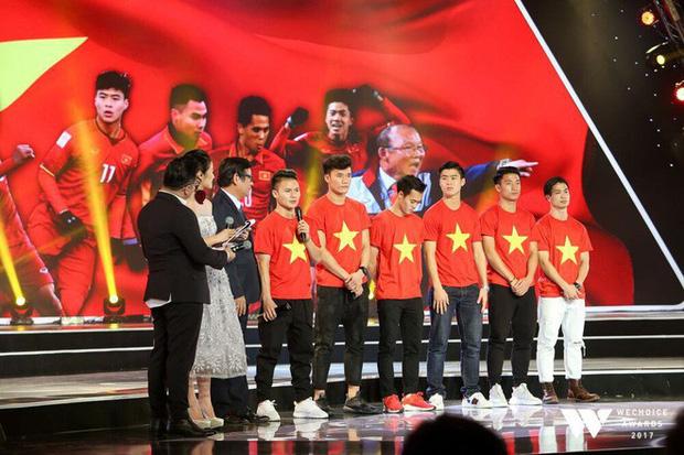 Những hình ảnh của các chàng trai U23 Việt Nam tại đêm Gala WeChoice Awards 2017
