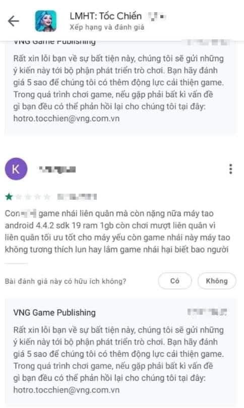 Tốc Chiến chỉ còn 3.5 sao trên Google Play, VNG bị hại bởi những bình luận phá game cực kỳ vô ý thức - Ảnh 3.