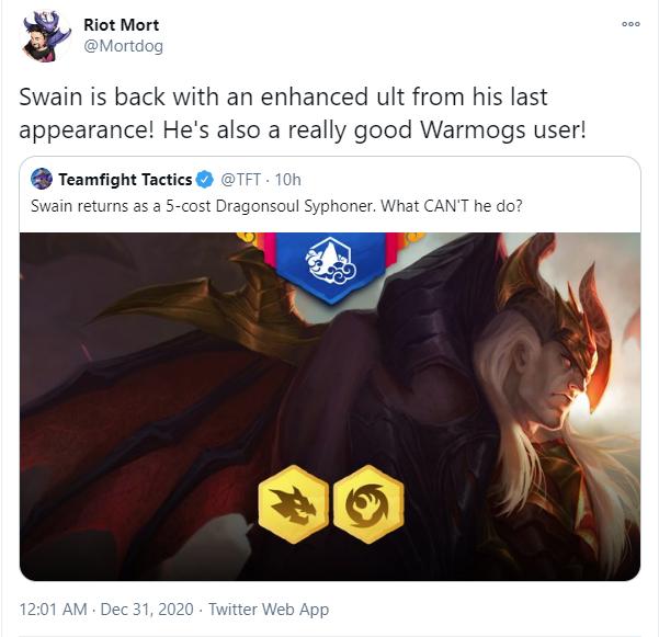 Đấu Trường Chân Lý: Riot Games công bố kế hoạch hồi sinh Giáp Máu Warmog với quân cờ mới Swain - Ảnh 2.