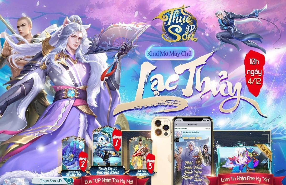 """Pha """"lột xác"""" đột phá nhất làng game - bom tấn Thục Sơn 4D chính thức ra mắt, đua TOP nhận iPhone 12 Pro kèm hàng ngàn Giftcode"""